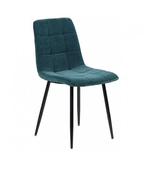 Chaise MANTA tissu bleu canard
